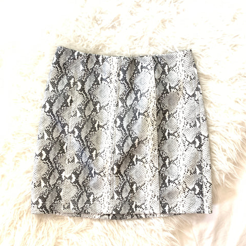 Wild Honey Grey Faux Leather Snakeskin Skirt- Size S