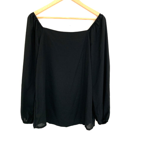 Gibson Black Off the Shoulder 3/4 Sleeve Blouse NWT- Size XS