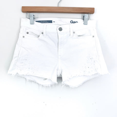 Gap Summer Short White Eyelet In Denim- Size 25R