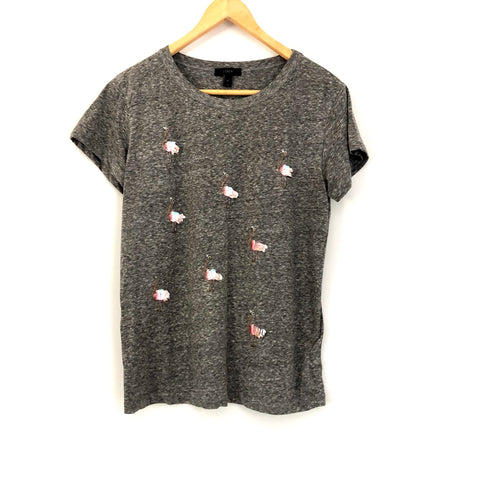 J Crew Flamingo Top - Size M
