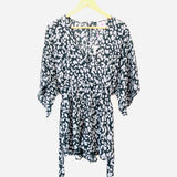 Buddy Love Black/Grey Animal Print Romper NWT- Size S
