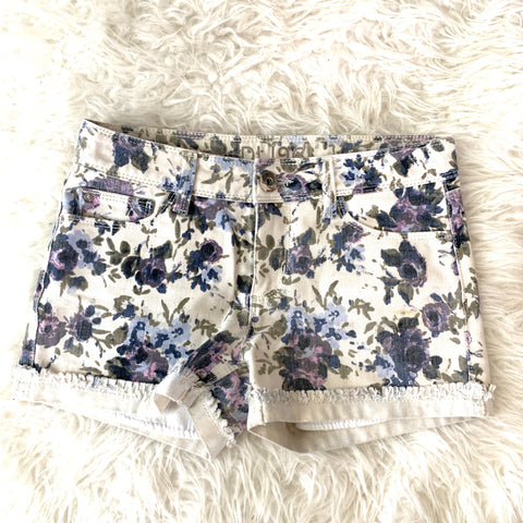 DL1961 Stella Purple Floral Denim Shorts- Size 24