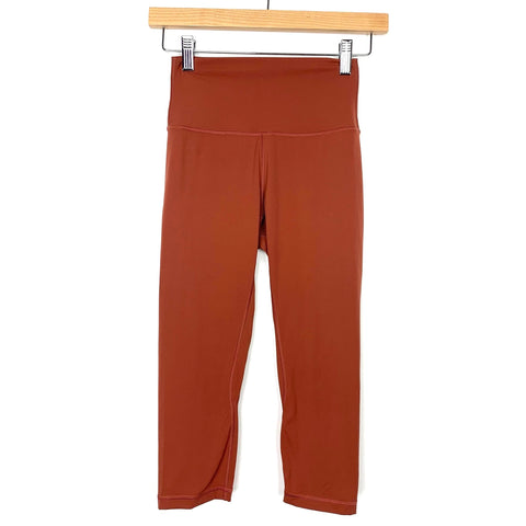 "Savvi Rust High Waist Capri Leggings- Size XS (Inseam 16"")"