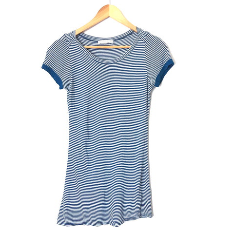 Louise et Charlotte Blue & White Striped Tunic- Size S