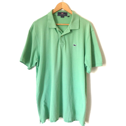 Vineyard Vines Solid Green Polo- Size L