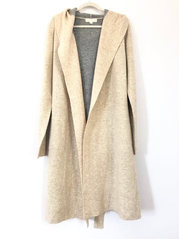 Lovestitch Tan Hooded Duster Cardigan- Size M/L