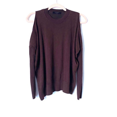ALLSAINTS Purple Cold Shoulder Sweater- Size XS (Jana)