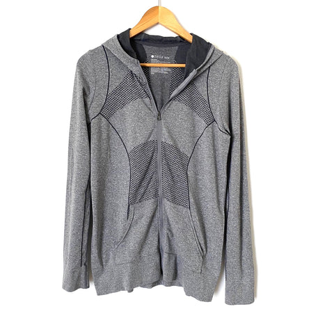 Zella Grey Zip Up Hooded Athletic Jacket- Size M