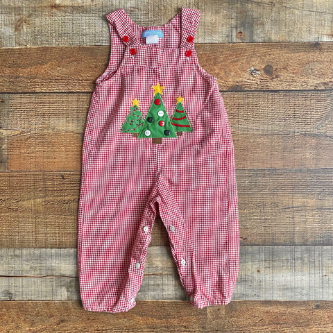Mondays Child Red Gingham Christmas Tree Outfit- Size 18M (see notes)