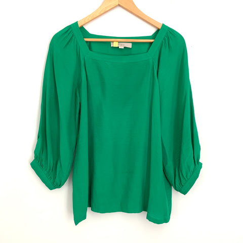 LOFT Green 3/4 Sleeve Blouse- Size XS