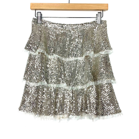 Endless Rose Silver Sequin Skirt- Size XS (We have matching top)