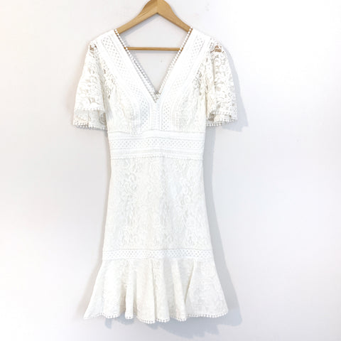 Eliza J Crochet and Lace Dress- Size 0