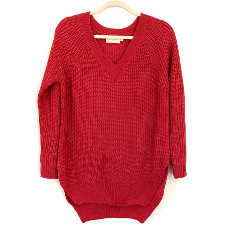 Dreamers Ruby V Neck Knit Sweater- Size S/M