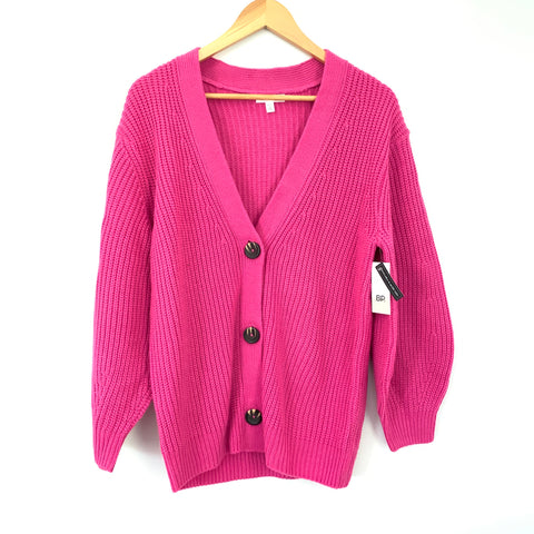 BP Pink Knit Button Cardigan NWT- Size XXS