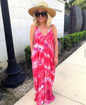 Lovestitch Pink Tie Dye Maxi Dress- Size S/M