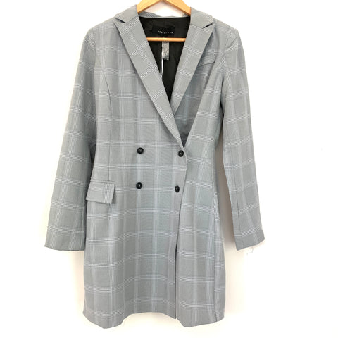 Adelyn Rae Grey Coatdress NWT- Size XS
