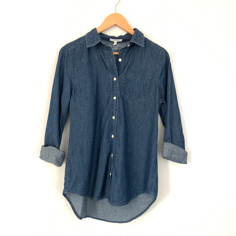 Maurices Denim Button Down Blouse- Size XS