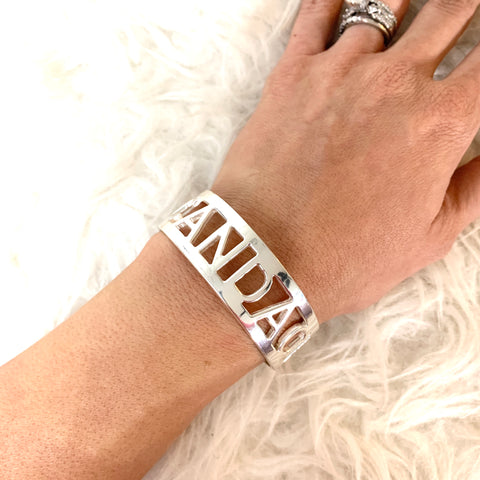 "RC Sterling Silver Candace 3/4"" Silver Bangle"