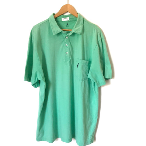 Johnnie-O The Original 4 Button Solid Green Polo- Size XL