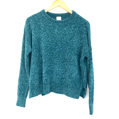 A New Day Teal Chenille Sweater- Size XS