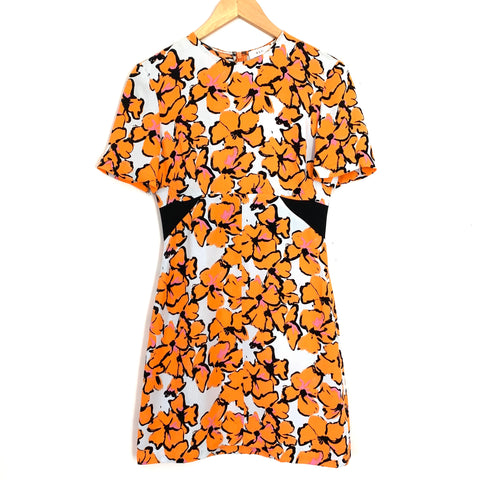A.L.C. Orange Floral 100% Silk Dress- Size 2
