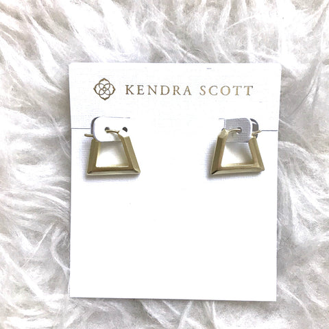 Kendra Scott Renzo Hoop Earrings in Gold Metal