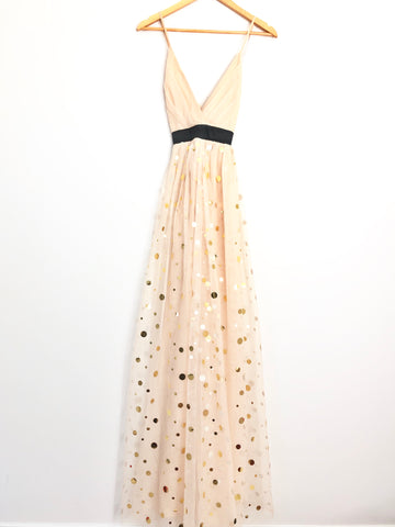 A Peach Gold Dot Maxi -Size S