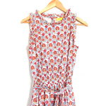 Roberta Roller Rabbit Floral Smocked Waist Belted Midi Dress- Size S