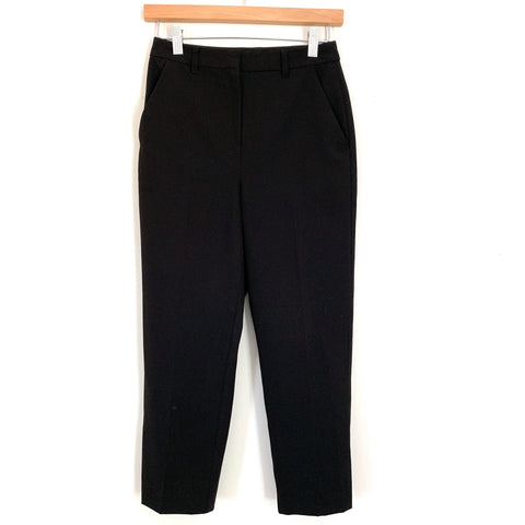 "Topshop Black Capri Trousers- Size 2 (Inseam 21"")"