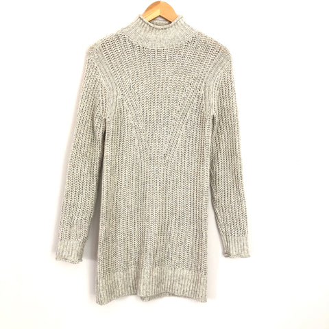 Abercrombie & Fitch Grey Turtleneck Sweater Dress- Size XS (no lining)