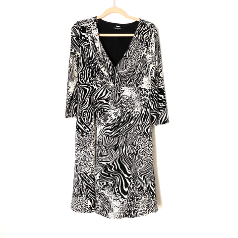Spense Black and White Animal Print Dress- Size 10