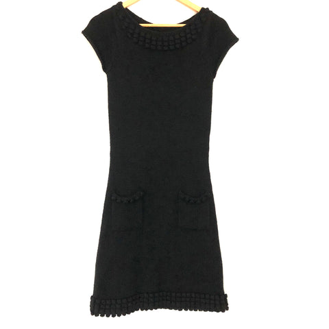 Viola Wool Blend Sweater PomPom Dress- Size XS