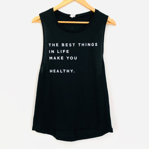 "Clean Juice Tank ""The Best Things in Life...""- Size M"