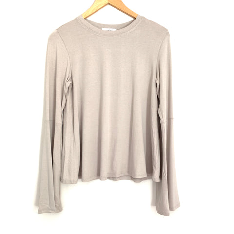 Vestique Taupe Long Bell Sleeve Blouse NWT- Size S
