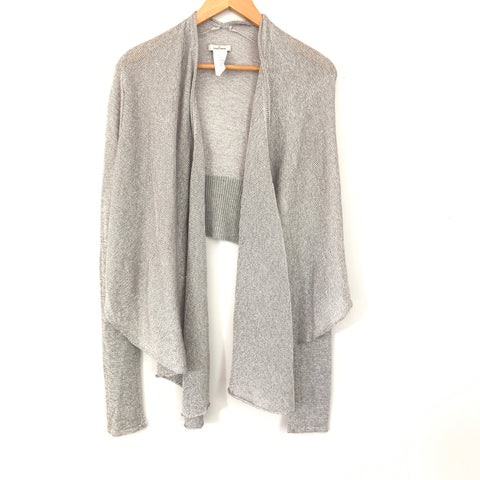 By Malene Birger Metallic Silver Cardigan- Size S