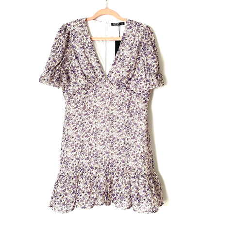 Nasty Gal Purple Floral Tea Dress NWT- Size 10 (sold out online)