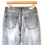 "Sofia by Sofia Vergara Light Wash Bagi Boyfriend Distressed Jeans with Rolled Cuff NWT- Size 4 (Inseam 26"")"