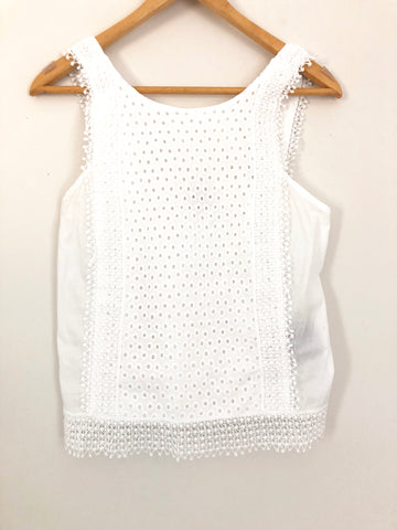 Who What Wear Eyelet Tank- Size XS