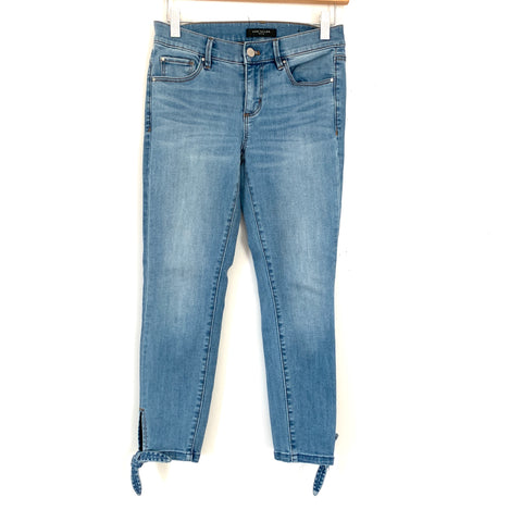 "Ann Taylor Light Wash Crop Jeans with Ankle Ties- Size 00P (Inseam 23"")"