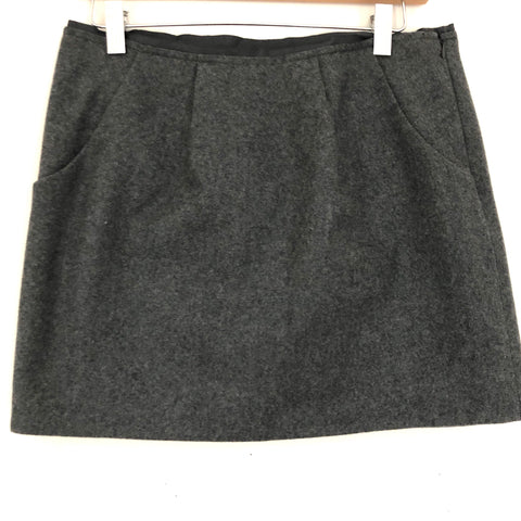 J Crew Wool Blend Grey Skirt with Pockets- Size 4
