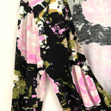 Leith Floral Cross Front Super Soft Top NWT- Size XS