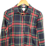 J Crew Perfect Fit Plaid Button Up- Size M