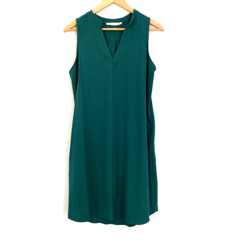 Lush Forest Green Sleeveless Dress- Size S