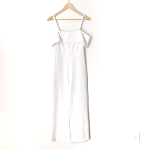 Laundry White Off the Shoulder Jumpsuit- Size 2