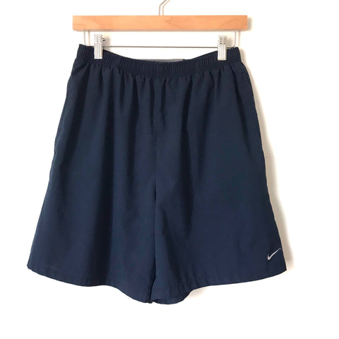 Nike Fit Dry Blue Men's Elastic Waist Shorts - Size M (see notes)