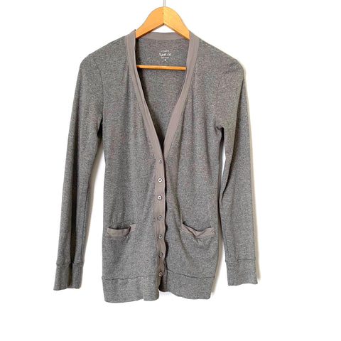 "J. Crew Grey ""Perfect Fit"" Button Cardigan- Size S"