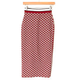 GP&J Baker x H&M Red Metallic Pattern Midi Skirt- Size XS (we have matching top-sold as seperates)