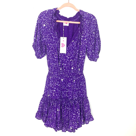 Buddy Love Ultraviolet Ray Smocked Waist Mini Dress NWT- Size XS