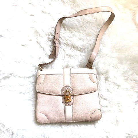 Salvator Ferragamo Cream Leather Handbag