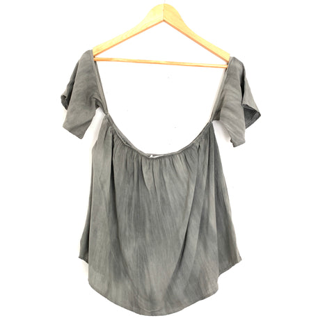 Sun & Shadow Olive Off the Shoulder Top- Size M